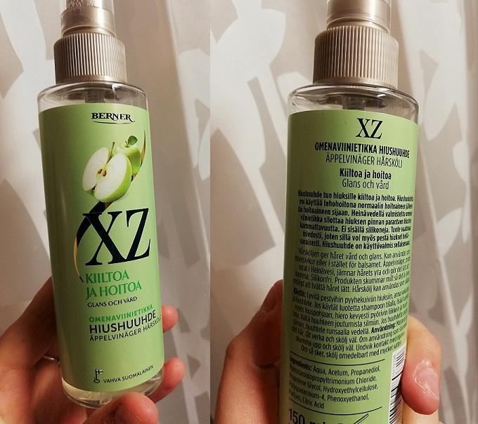 Palashampoon matkassa: XZ:n omenaviinietikka hiushuuhde