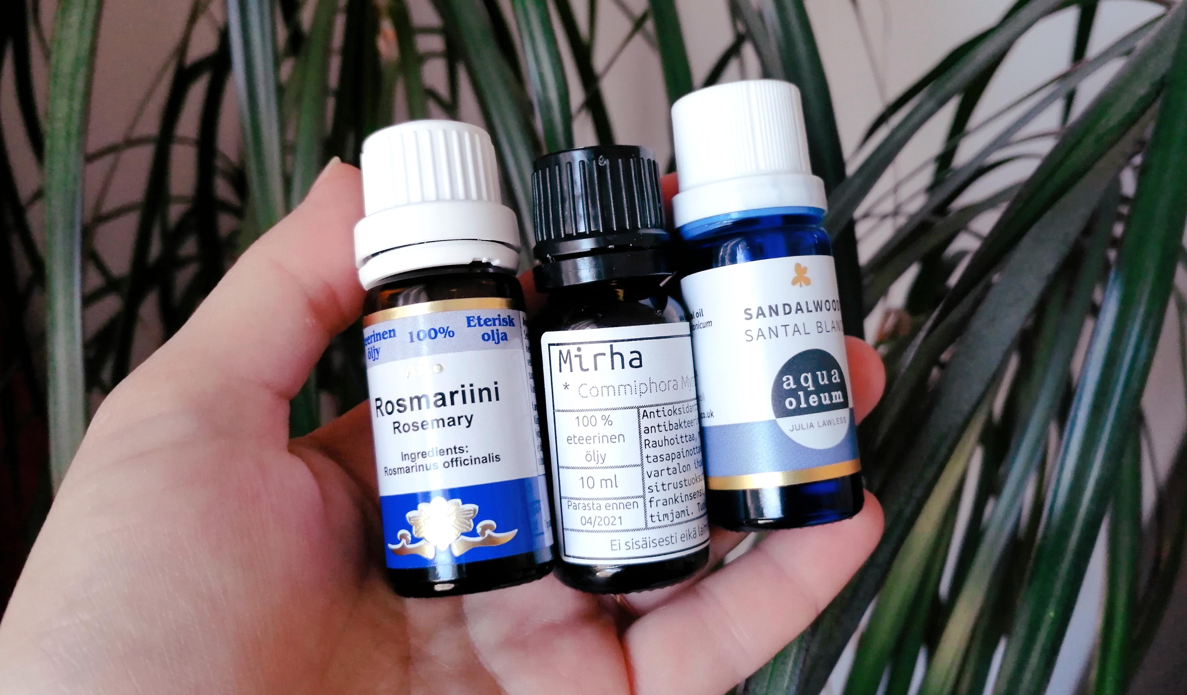 Eteeriset öljyt hajuvetenä – iloa ja hyötyä luonnon tuoksuista