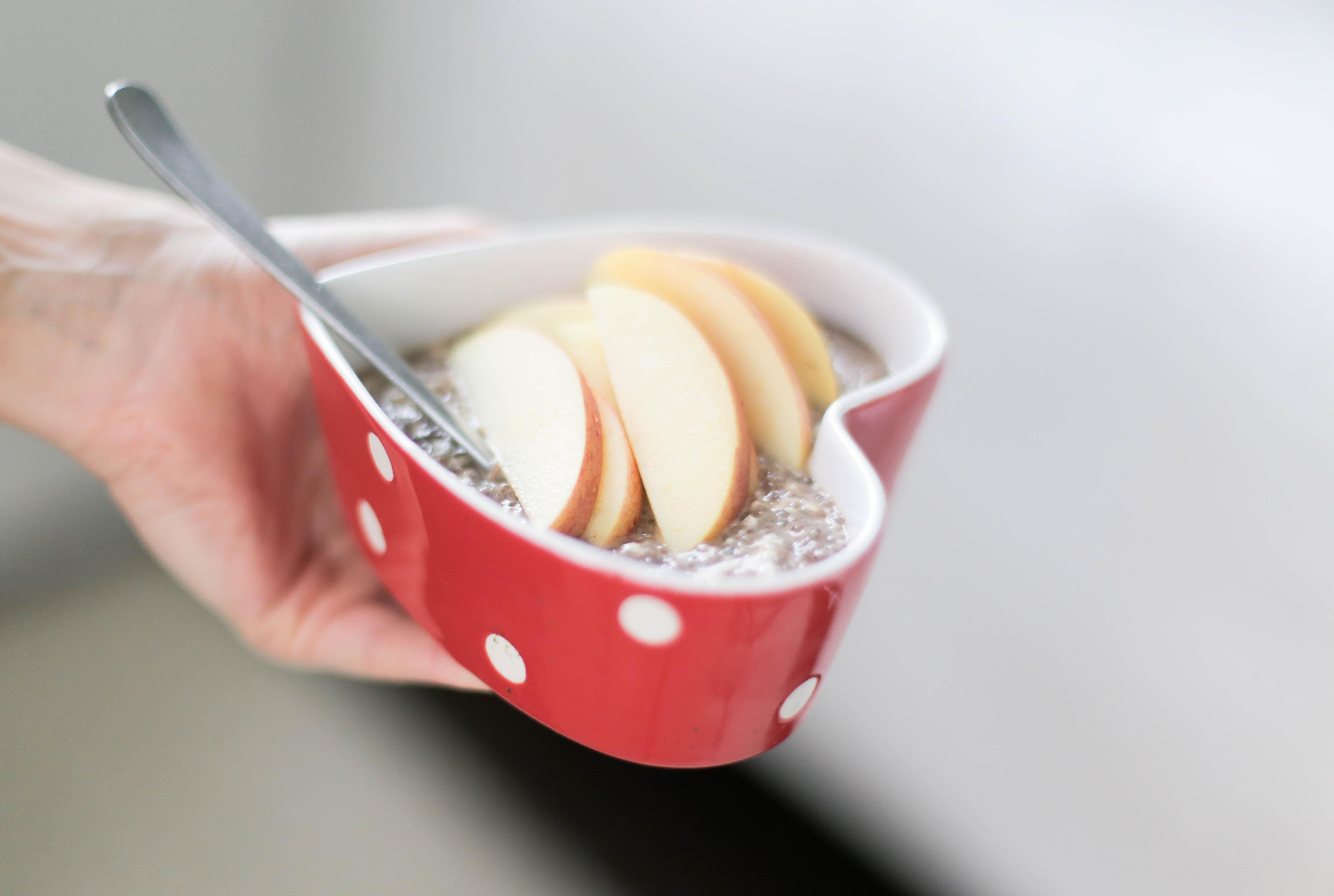 omena-kaneli tuorepuuro