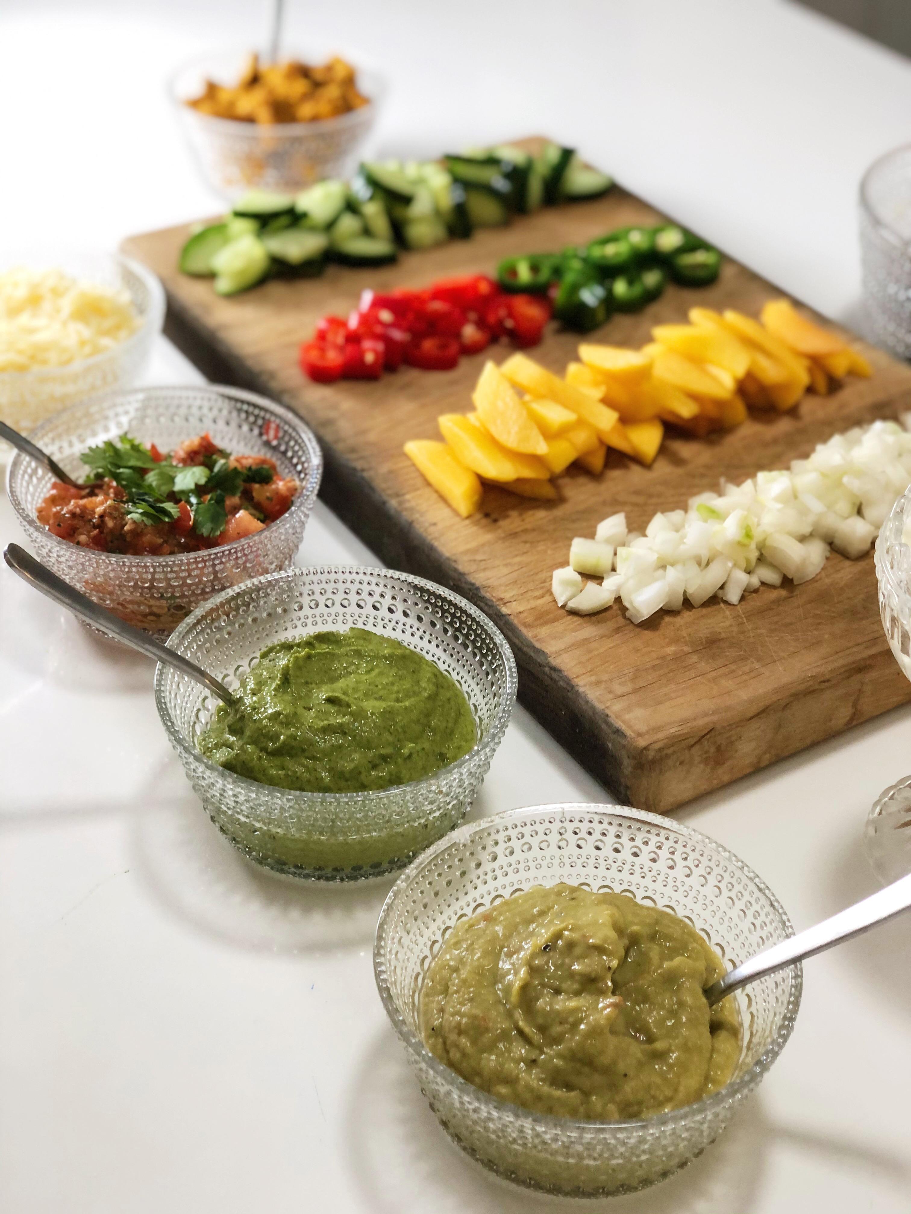 Soft Tacos ja homemade soossit