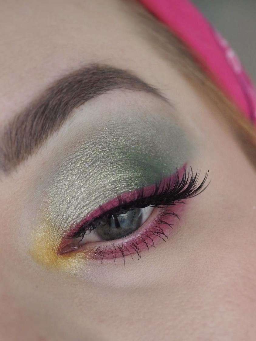 meikkihaaste vihreä silmämeikki