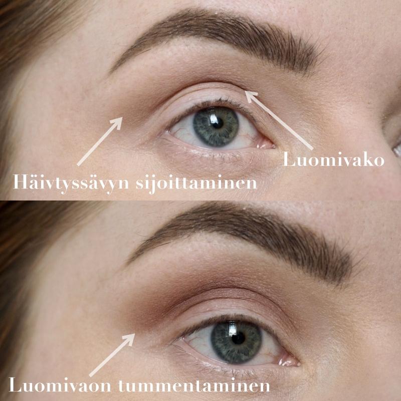 raskaiden luomien meikki