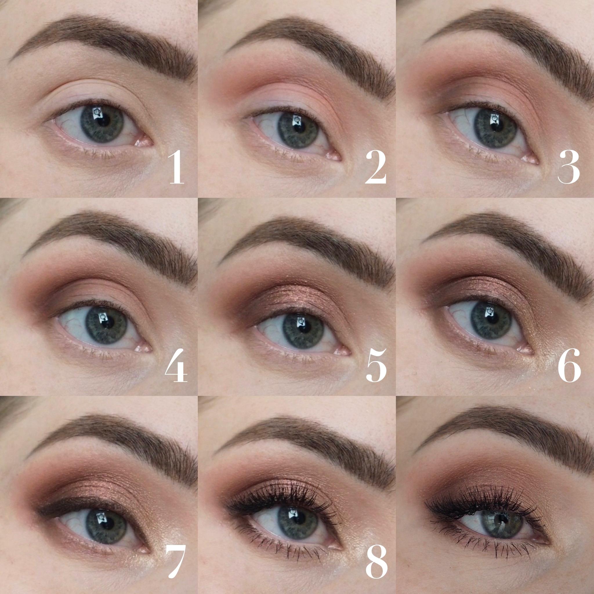 ruusukultainen silmämeikki