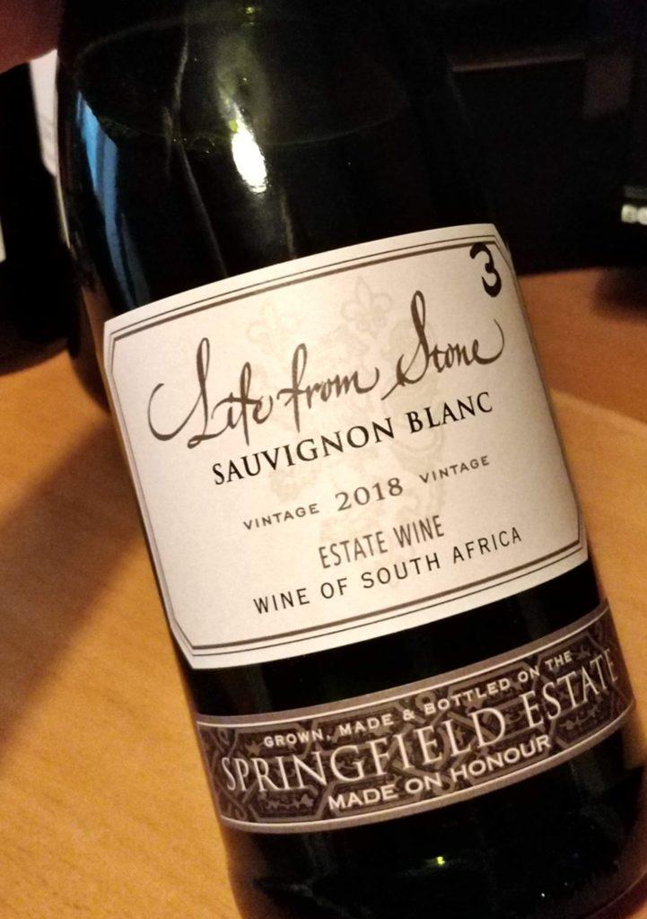 Perjantaipullo-throwback: Springfield Estate Life from Stone Sauvignon Blanc 2018