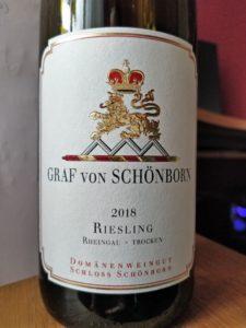 Perjantaipullo: Graf von Schönborn Riesling Trocken 2018