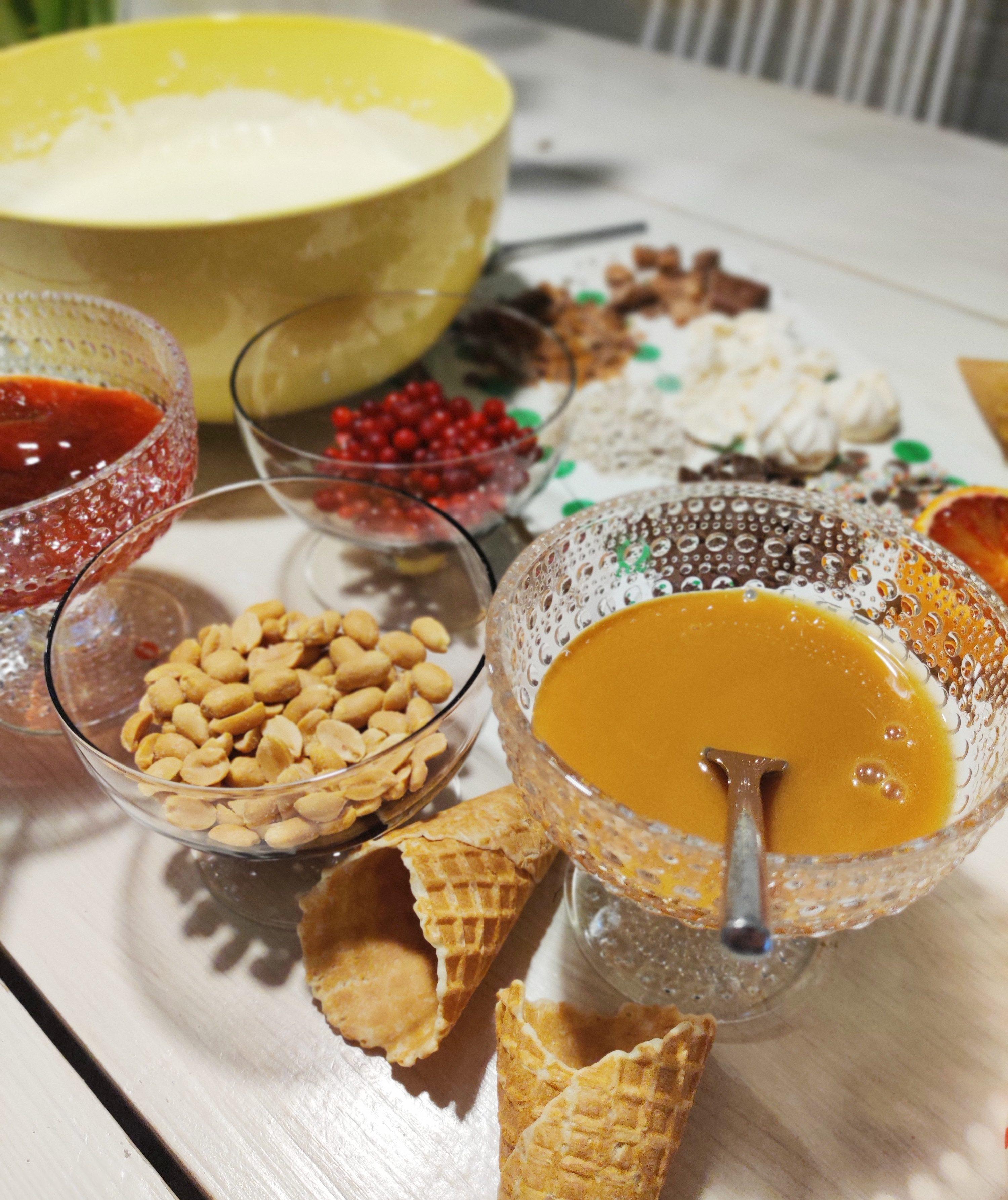 jäätelöiden mausteita