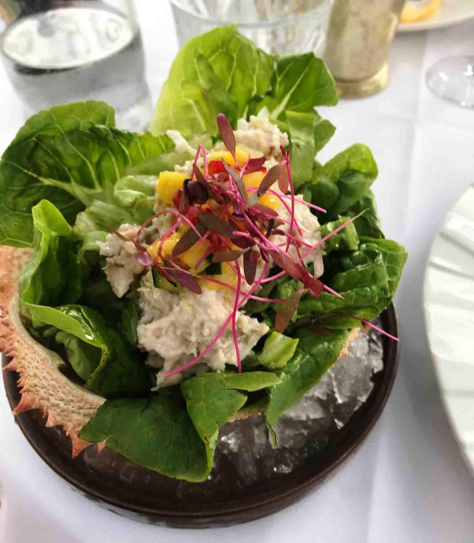 Rosana Eats Dior Cafe London crab salad