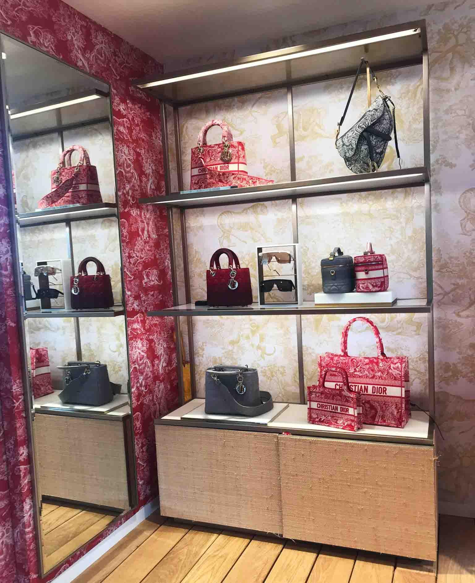 Rosana Eats Dior Cafe London handbags