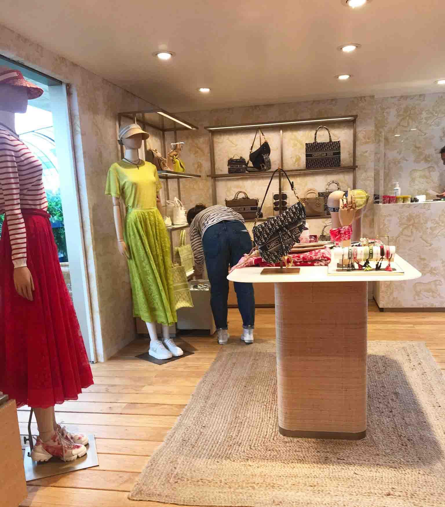 Rosana Eats Dior Cafe London boutique