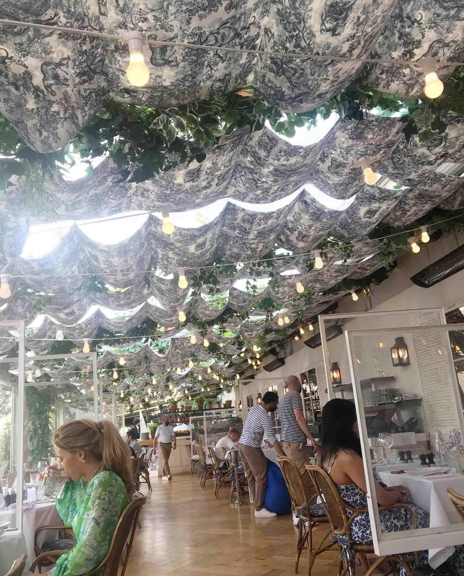 Rosana Eats Dior Cafe London inside