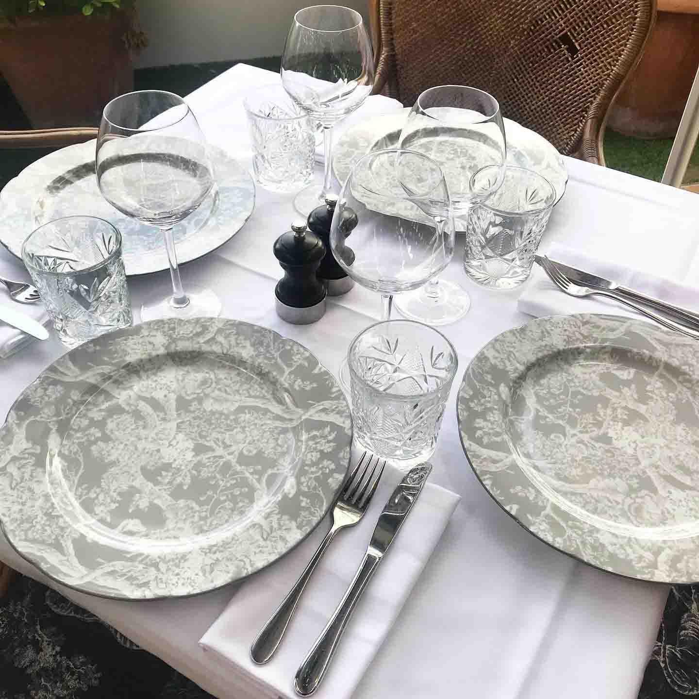 Rosana Eats Dior Cafe London tableware