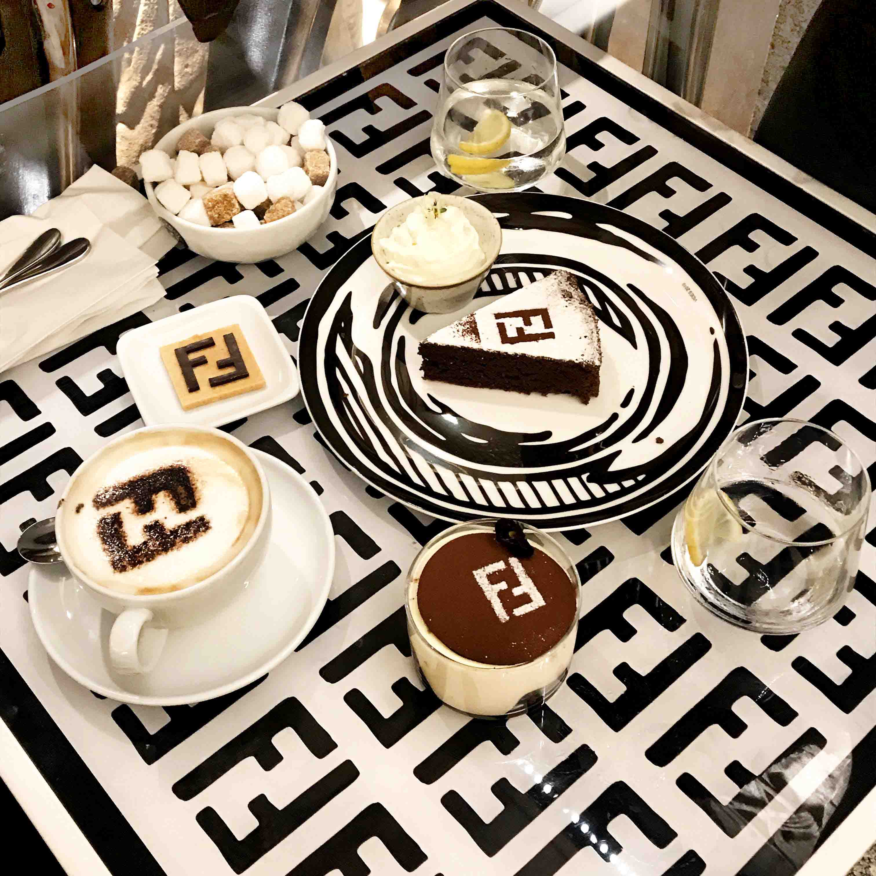 Fendi Café at Harrods